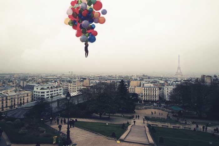 Above Paris by VhPhoto