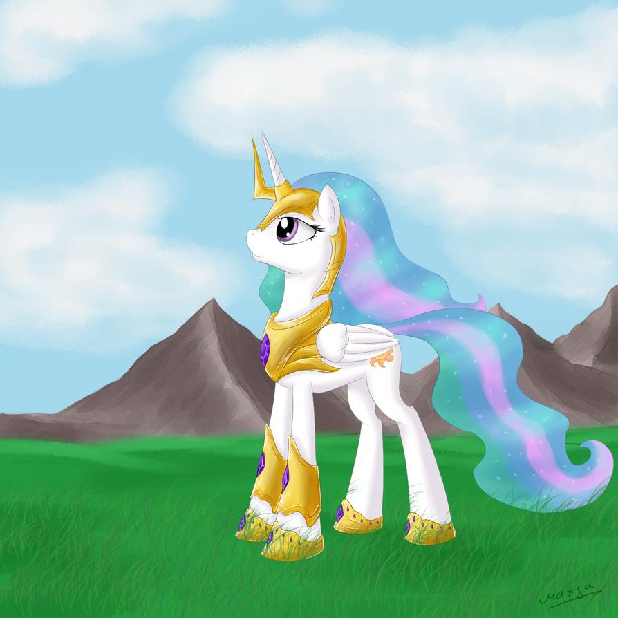 Princess Celestia by maxca