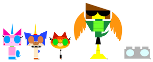 Uk: Minimal Unikitty and Friends by FlainStorm