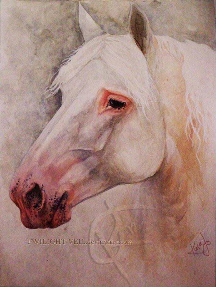 Percheron portrait by twilight-veil