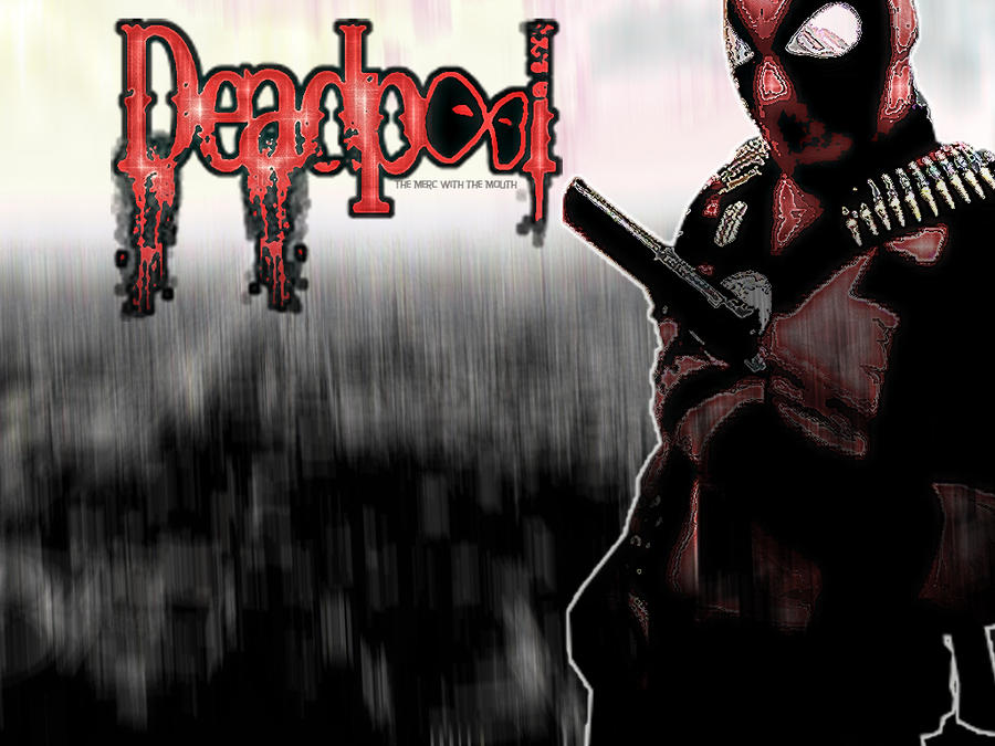Cool Deadpool Wallpaper with Red Abstract Mask with White Eyes in ...