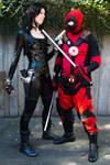 Domino and Deadpool at Sakura-Con 2013