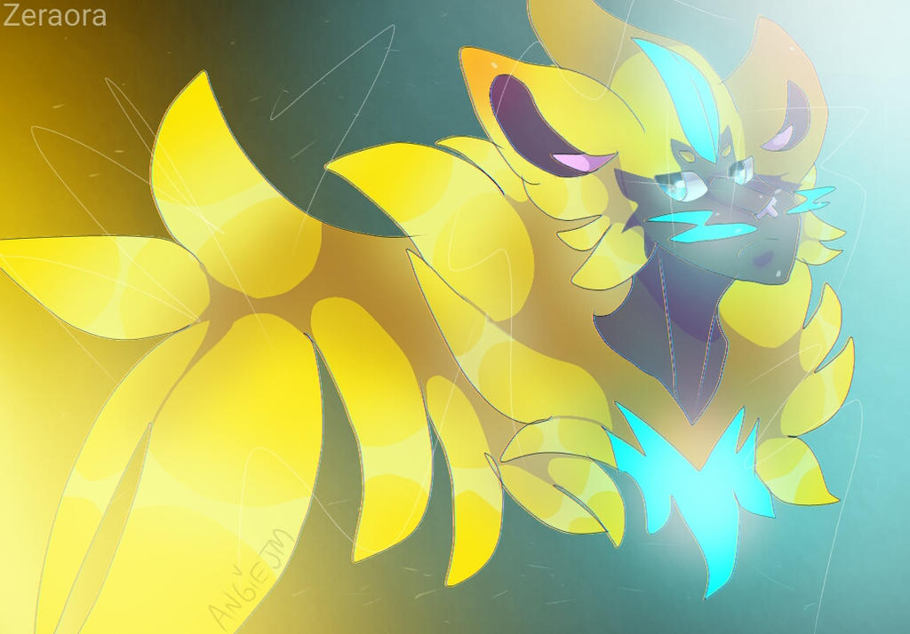 Pokemon Zeraora Fanartwallpaper By Angiejm On Deviantart