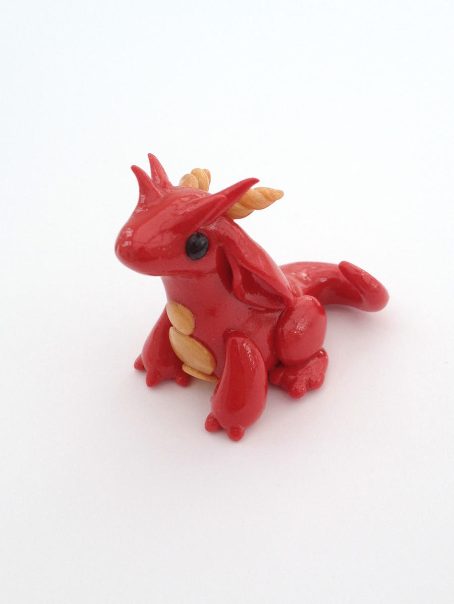 Red Gold-bellied Dragon by Liluri-Creations
