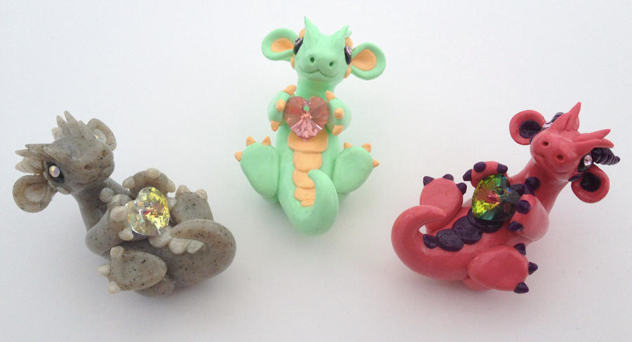 Crystal Heart Dragons by Liluri-Creations
