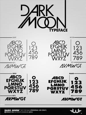 Dark Moon TypeFace