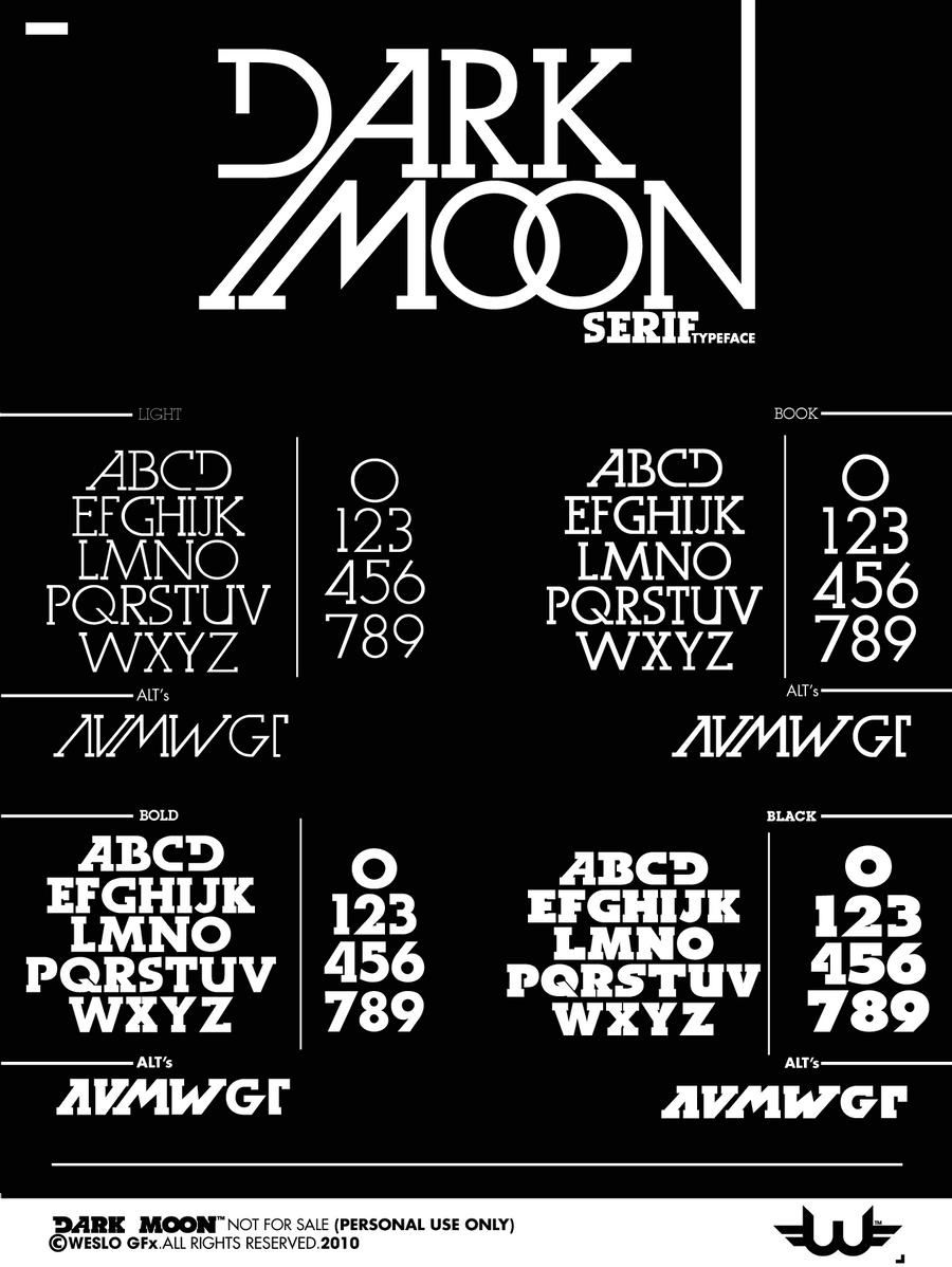 Dark Moon Serif TypeFace