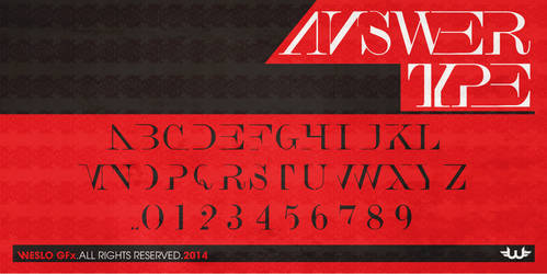 aNSWER TYPE Typeface Font