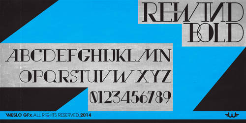 rewind bold Typeface Font