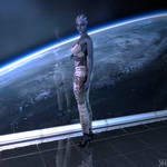 Liara in Front of Space