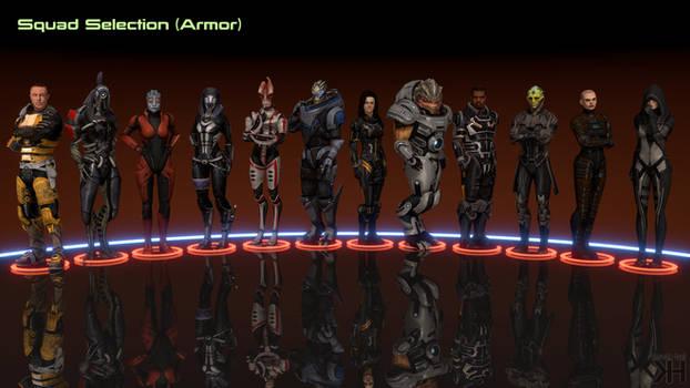 ME2 Squad Selection (Armor version)