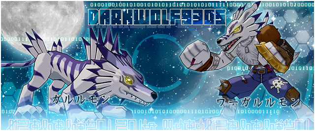 Garurumon and WereGarurumon by YumeNoAnima