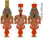 Akhenaten statue reconstruction