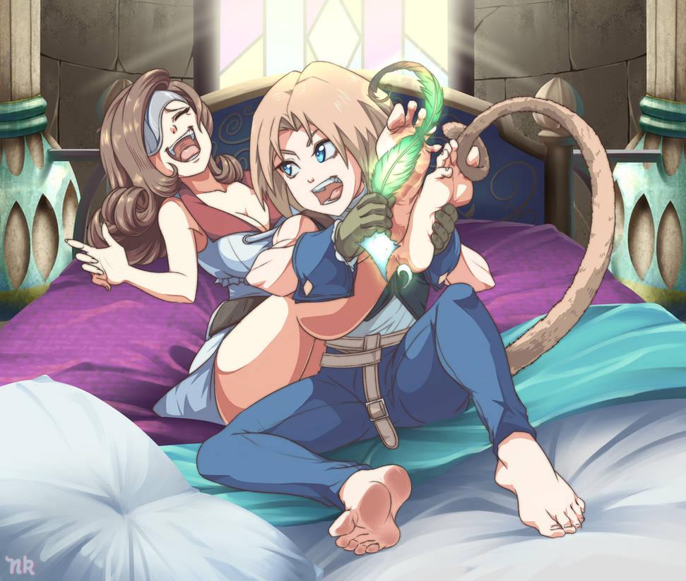 Comm- Zidane Tickling Beatrix Final Fantasy IX
