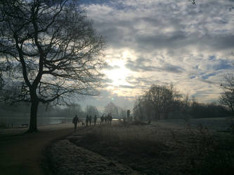 Hampstead Heath winter morning by kathrynthomas