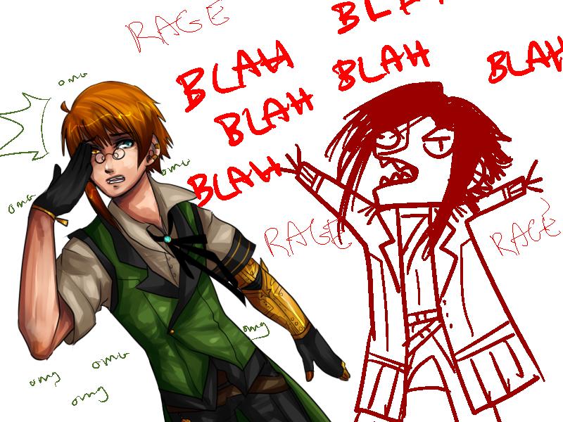 BLAH BLAH RAGE OMG BLAH by Pharos-Chan