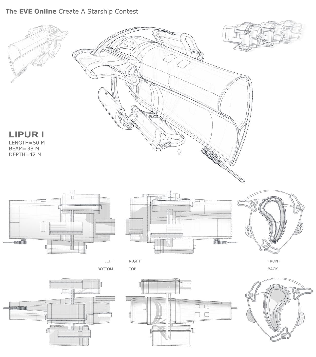 LIPUR I Starship by ruslendingur