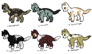 adopts (5 each) by mcarr37