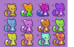 chibi cat adopts (4 each) by mcarr37