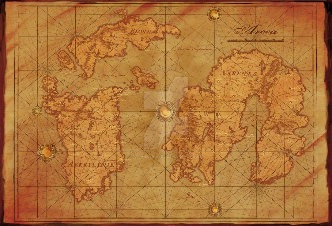 Map of Arcea by Vyrhelle-VyrL
