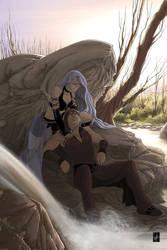Ilithye and Nazalian by Vyrhelle-VyrL