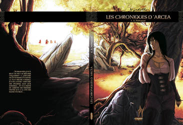 Les Chroniques d'Arcea, couverture du tome 1 by Vyrhelle-VyrL