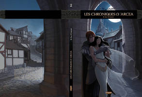 Les Chroniques d'Arcea, couverture du tome 2 by Vyrhelle-VyrL