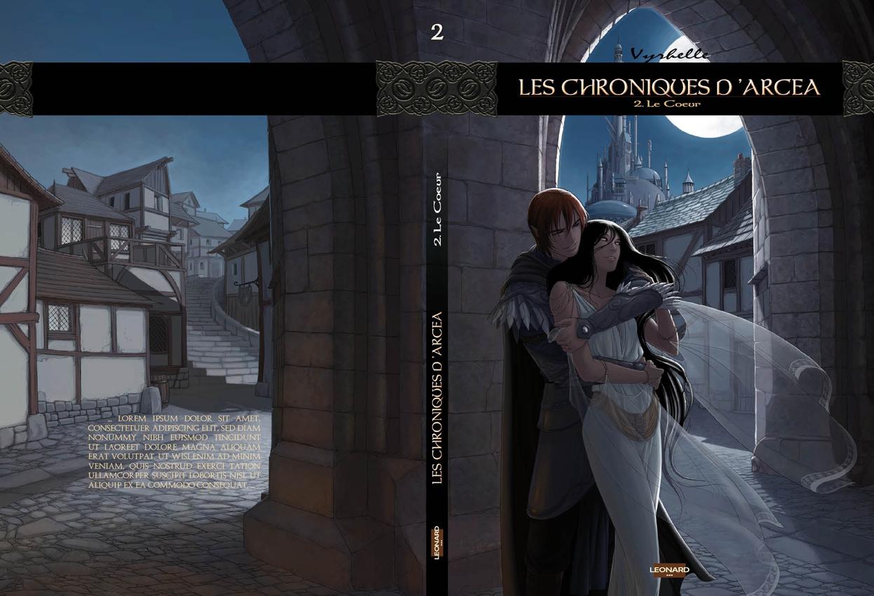 Les Chroniques d'Arcea, couverture du tome 2