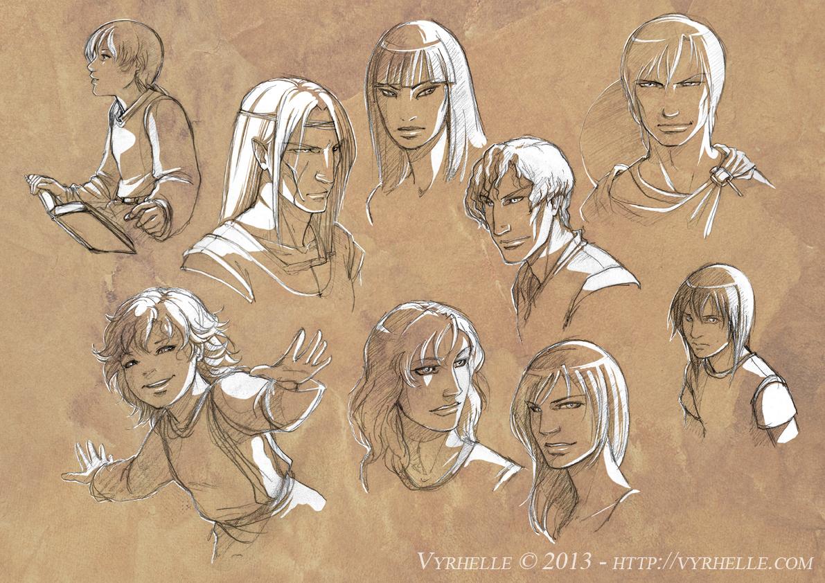 Some sketches by Vyrhelle-VyrL