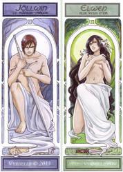 Art Nouveau bookmark by Vyrhelle-VyrL