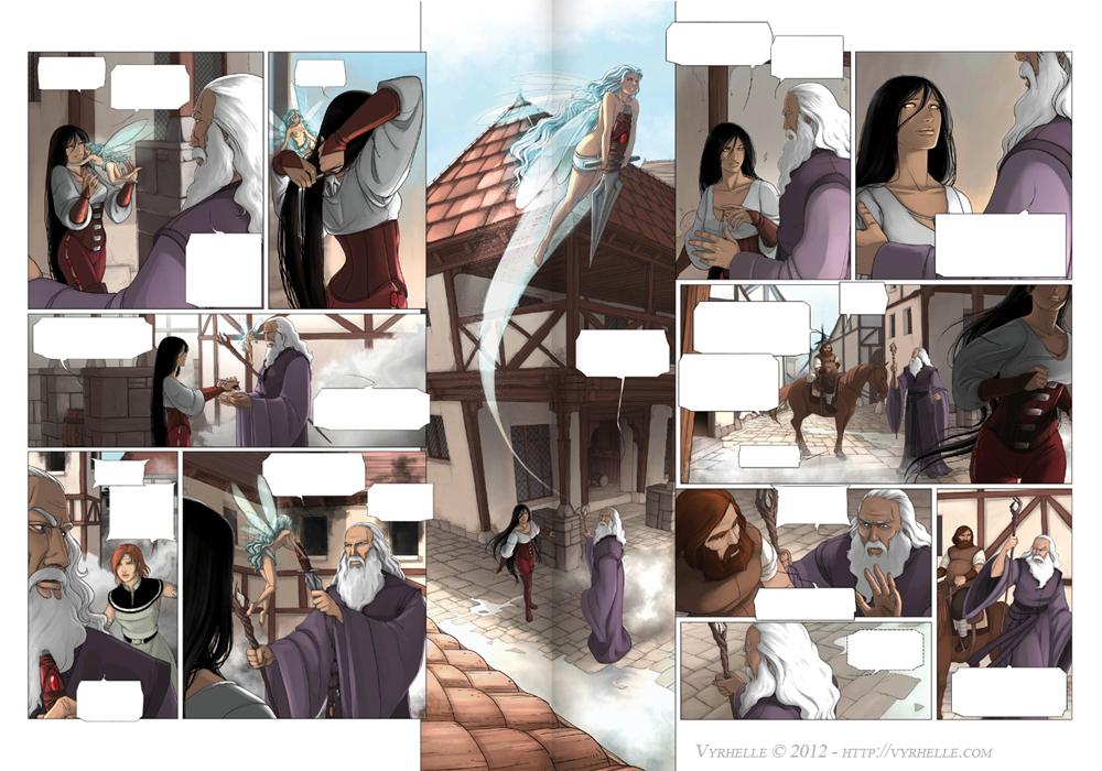 Les Chroniques d'Arcea Livre 2, pages 6 et 7