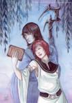 Watercolors : Tania and senno