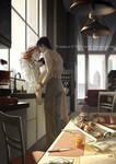 Coffee ritual by Vyrhelle-VyrL