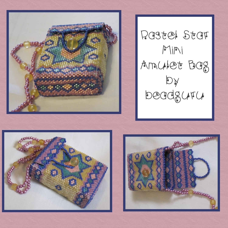 Pastel Star Mini Amulet Bag by beadguru on DeviantArt