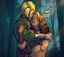 A Ranger and his Druid by TeeSquar3