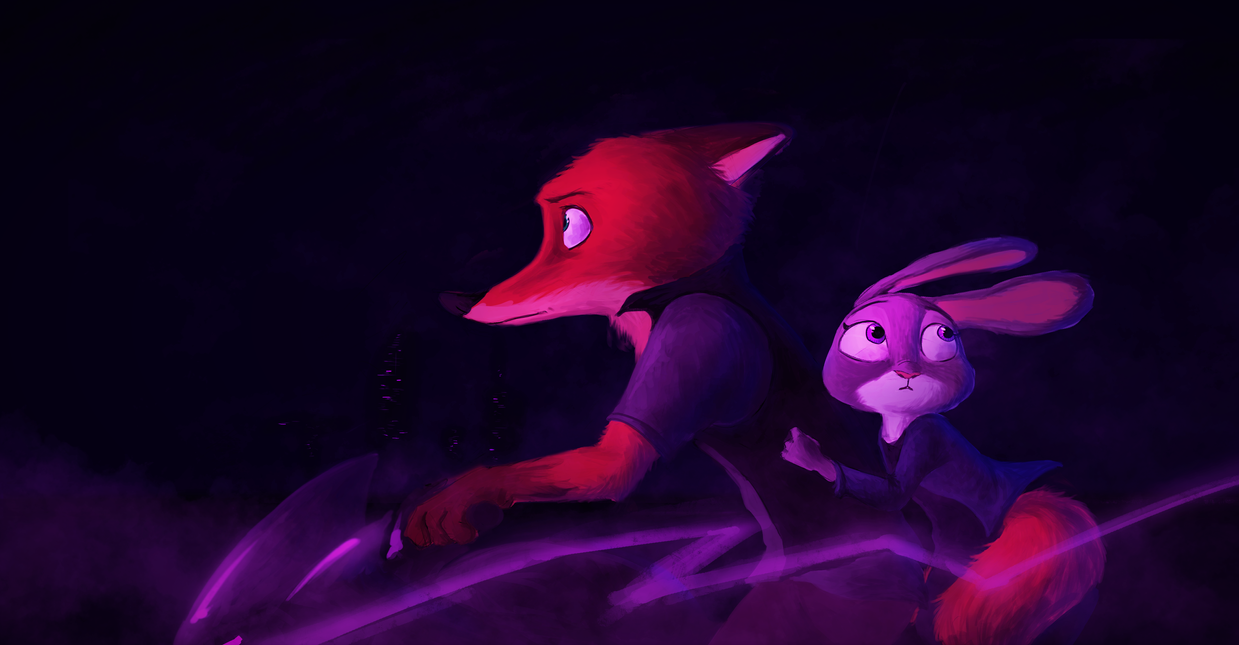 Ride in the Night - Zootopia by EmberLarelle276