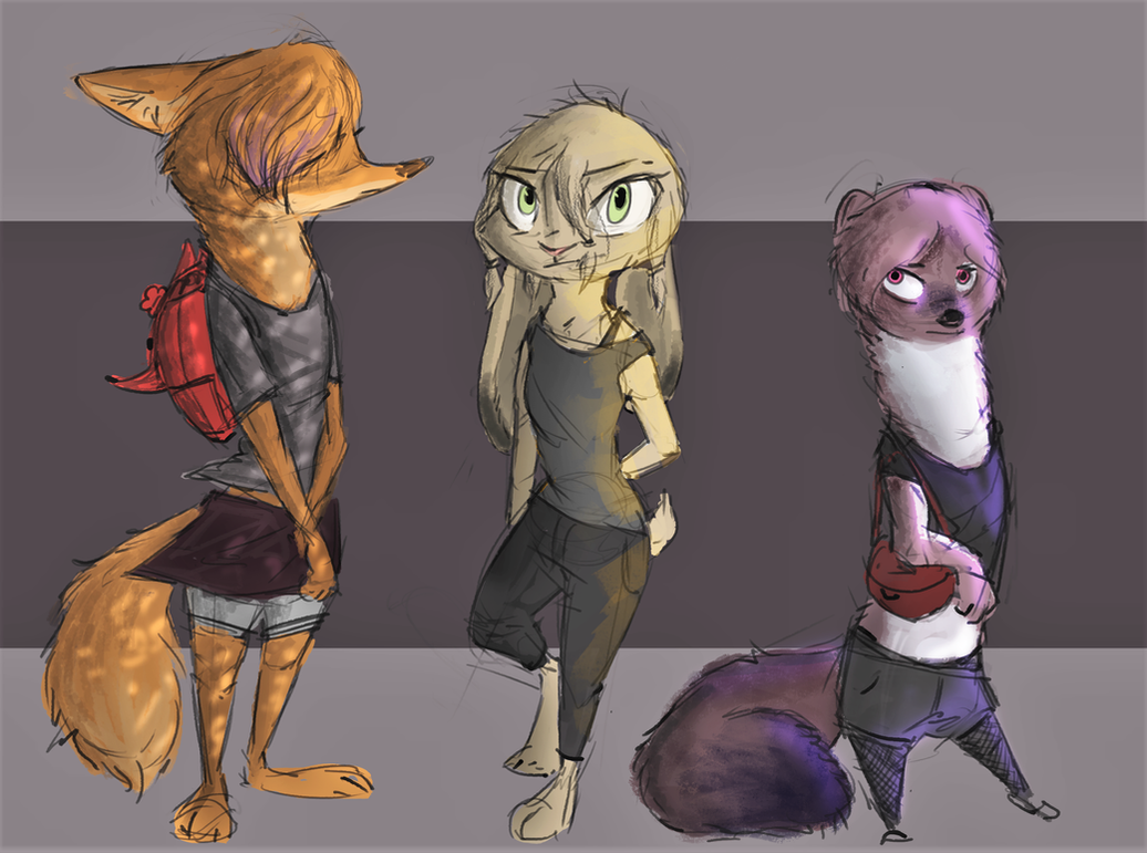 [Zootopia] Drifter Project - Character designs 1 by EmberLarelle276