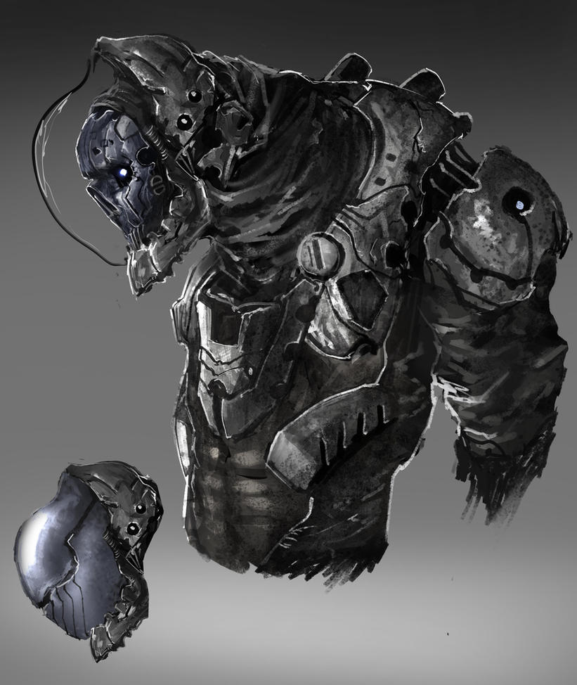 Weird Skull Astronaut thing by SprinKah