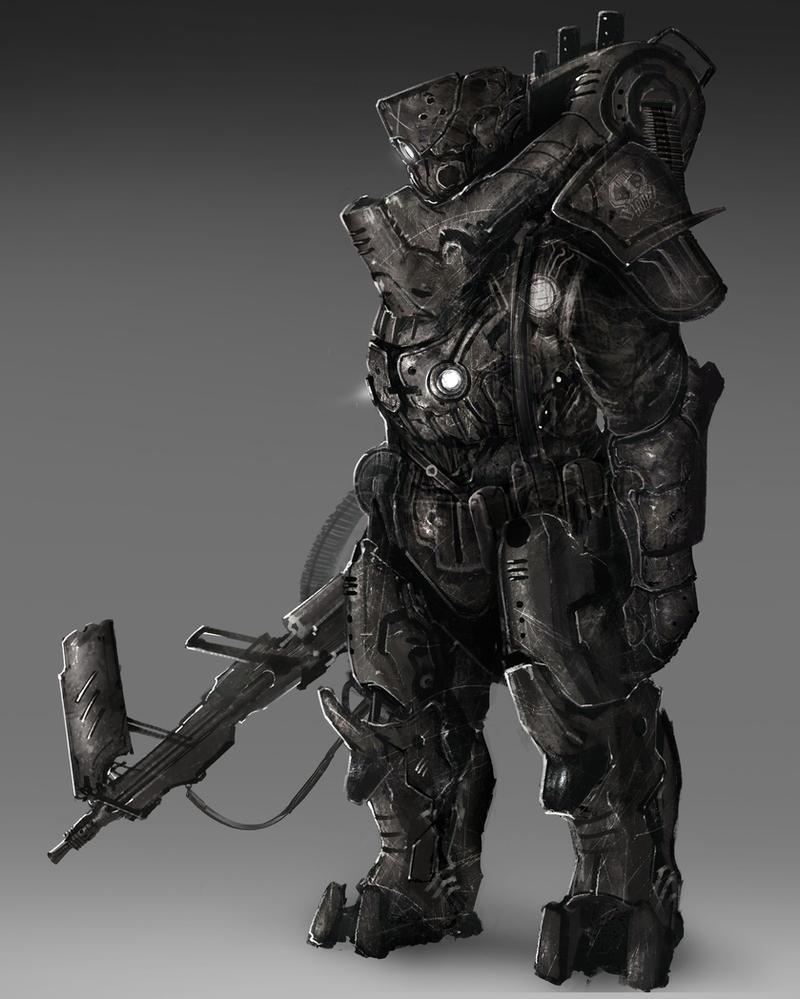 Dieselpunk Heavy Infantry by SprinKah