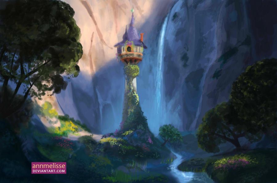Tangled rapunzel 39 s tower by annmelisse on deviantart - Tangled tower wallpaper ...