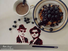 The Blueberry Brothers...on a mission from God by NadienSka