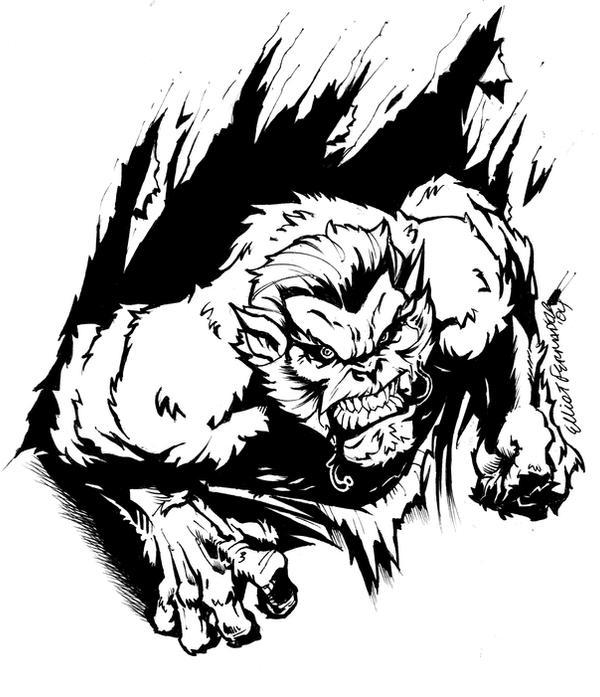 Werewolf by jerkmonger
