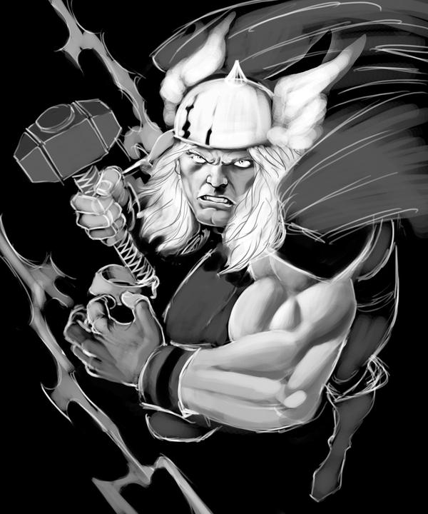 THOR WIP 2 by jerkmonger