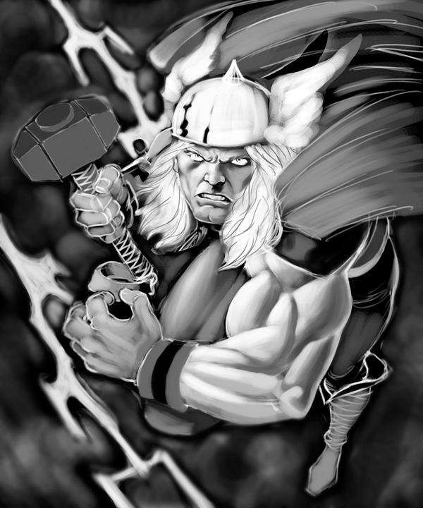 THOR WIP 4 by jerkmonger