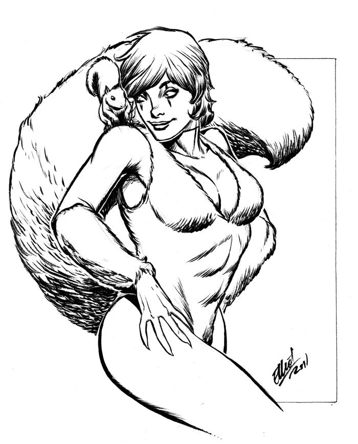Squirrel Girl by jerkmonger