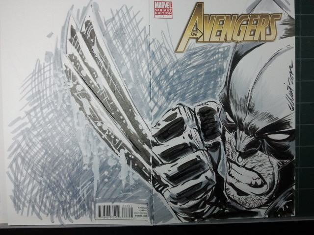 AVENGERS Sketch Cover: Wolvie Step 12 by jerkmonger