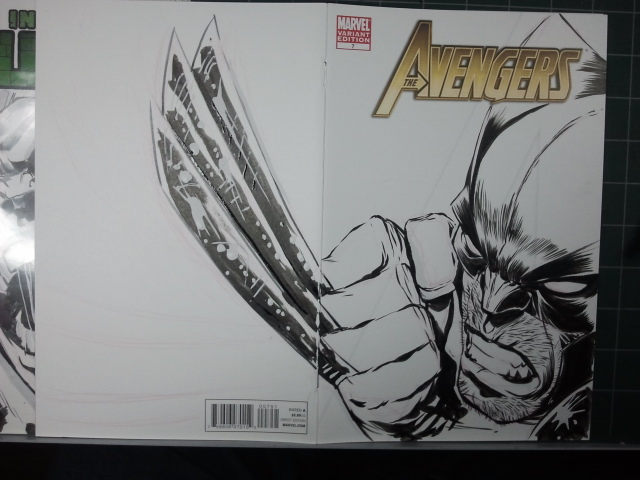AVENGERS Sketch Cover: Wolvie Step 10 by jerkmonger
