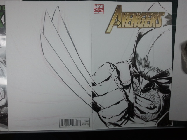 AVENGERS Sketch Cover: Wolvie Step 08 by jerkmonger