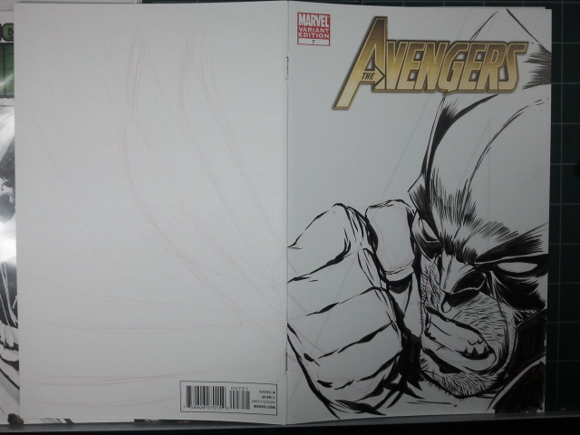 AVENGERS Sketch Cover: Wolvie Step 07 by jerkmonger