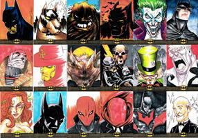 BATMAN: THE LEGEND SKETCH CARDS 1 by jerkmonger